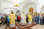 Глава Казахстанского митрополичьего округа освятил храм мучеников Адриана и Наталии в поселке Отеген-Батыр Алма-Атинской области