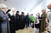Святейший Патриарх Кирилл посетил православный социальный центр «Лествица» в Норильске