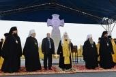 Святейший Патриарх Кирилл заложил храм великомученицы Варвары в Норильске