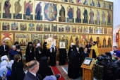 Святейший Патриарх Кирилл посетил подворье Пюхтицкого монастыря в Когалыме