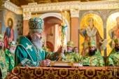 Митрополит Киевский Онуфрий возглавил празднование Собора преподобных отцов Киево-Печерских, в Дальних пещерах почивающих