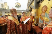 Предстоятель Русской Церкви освятил храм Новомучеников и исповедников Церкви Русской в Норильске