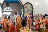 Митрополит Астанайский Александр в праздник Усекновения главы Иоанна Предтечи совершил Литургию в Предтеченском храме поселка Гульдала Алма-Атинской области