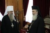 Управляющий делами Московской Патриархии встретился с Предстоятелем Иерусалимской Православной Церкви