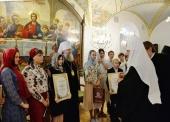 Святейший Патриарх Кирилл встретился с победителями Всероссийской художественно-литературной олимпиады «Зарисовка из жизни последних Романовых»