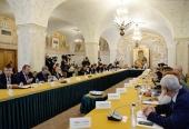 Святейший Патриарх Кирилл возглавил заседание Попечительского совета Фонда поддержки строительства храмов г. Москвы