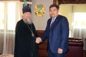 Глава Казахстанского митрополичьего округа и министр общественного развития Казахстана обсудили вопросы подготовки к VI Съезду лидеров мировых и традиционных религий