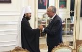 Председатель ОВЦС митрополит Волоколамский Иларион встретился с Президентом Португалии