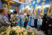 В праздник Рождества Богородицы митрополит Киевский Онуфрий возглавил престольный праздник в храме Киевских духовных школ