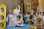В праздник Рождества Пресвятой Богородицы Предстоятель Русской Церкви совершил Литургию в Богородице-Рождественском монастыре
