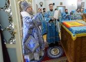 В праздник Рождества Пресвятой Богородицы митрополит Астанайский Александр совершил Литургию в Казанском соборе Алма-Аты