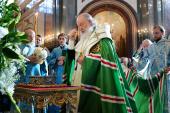Святейший Патриарх Кирилл возглавил торжественную встречу мощей святителя Спиридона Тримифунтского в Москве