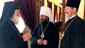 Митрополит Волоколамский Иларион встретился с Предстоятелями Александрийской и Польской Православных Церквей