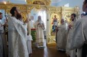 Председатель Синодального отдела по монастырям и монашеству освятил храм на подворье Богородице-Рождественского ставропигиального монастыря