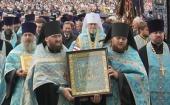В Курской митрополии состоялся крестный ход с чудотворной иконой Божией Матери «Знамение» Курской-Коренной