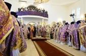 В праздник Воздвижения Креста Господня Предстоятель Русской Церкви совершил Литургию в Никольском кафедральном соборе Армавира