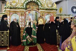 Слово Святейшего Патриарха Кирилла после богослужения в кафедральном соборе святителя Николая Чудотворца в Ейске
