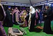 Святейший Патриарх Кирилл освятил закладной камень в основание храма равноапостольных Кирилла и Мефодия на территории Кубанского государственного университета