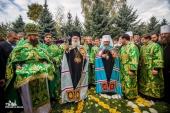 Блаженнейший Патриарх Александрийский Феодор II и Блаженнейший митрополит Киевский Онуфрий совершили Литургию в Успенском монастыре Одессы