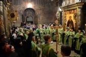 В канун дня памяти преподобного Сергия Радонежского Святейший Патриарх Кирилл совершил всенощное бдение в Троице-Сергиевой лавре