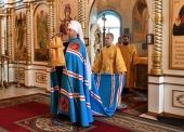 Глава Казахстанского митрополичьего округа посетил с архипастырским визитом Костанайскую епархию