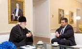 Состоялась встреча митрополита Таллинского и всея Эстонии Евгения и премьер-министра Эстонии Юри Ратаса