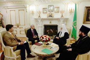Состоялась встреча Святейшего Патриарха Кирилла с Чрезвычайным и Полномочным послом Республики Куба в Российской Федерации
