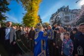 В праздник Покрова Богородицы Предстоятель Украинской Православной Церкви возглавил богослужение в Покровском монастыре Киева
