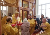 В день святителя Михаила, первого митрополита Киевского, состоялась архиерейское богослужение в храме Киево-Печерской иконы Божией Матери на Киевском вокзале Москвы