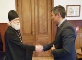 Состоялась встреча митрополита Таллинского и всея Эстонии Евгения с председателем Таллинского городского собрания