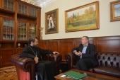 Митрополит Волоколамский Иларион встретился с новоназначенным послом Эстонии в России