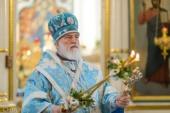 В праздник Казанской иконы Божией Матери Патриарший экзарх всея Беларуси совершил Литургию в Свято-Духовом кафедральном соборе Минска