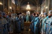 В Неделю 23-ю по Пятидесятнице Блаженнейший митрополит Онуфрий совершил Литургию в Свято-Духовом кафедральном соборе Черновцов