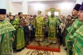 В день памяти преподобного Елисея Лавришевского Патриарший экзарх всея Беларуси возглавил Литургию в Елисеевском Лавришевском мужском монастыре