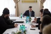 Председатель Синодального отдела по взаимоотношениям Церкви с обществом и СМИ провел встречу с руководителями профильных отделов епархий Северо-Кавказского федерального округа