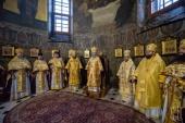 В Неделю 24-ю по Пятидесятнице Блаженнейший митрополит Онуфрий совершил Литургию в Киево-Печерской лавре
