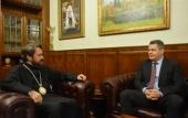 Митрополит Волоколамский Иларион встретился с новоназначенным послом Чехии в России