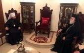 Митрополит Волоколамский Иларион встретился с Блаженнейшим Патриархом Александрийским Феодором