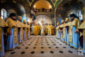 В Неделю 25-ю по Пятидесятнице Предстоятель Украинской Православной Церкви совершил Литургию в Киево-Печерской лавре