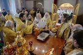В день памяти святителя Тихона Предстоятель Русской Церкви совершил Литургию в Московском епархиальном доме
