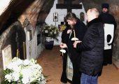 Президент России В.В. Путин посетил Псково-Печерский монастырь