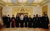 Святейший Патриарх Кирилл встретился с членами Совета лидеров христианских Церквей Ирака