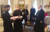 В Нью-Йорке состоялась встреча временно управляющего Патриаршими приходами в США с Первоиерархом Русской Зарубежной Церкви