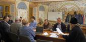 В Новоспасском монастыре прошло заседание ответственных редакторов и членов рабочей группы по изданию документов Поместного Собора Православной Российской Церкви