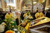 Святейший Патриарх Кирилл совершил молебен перед мощами свт. Луки (Войно-Ясенецкого) в соборе Христа Спасителя в Калининграде