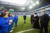 Святейший Патриарх Кирилл посетил стадион «Калининград»