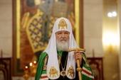 Слово Святейшего Патриарха Кирилла после всенощного бдения в кафедральном соборе Христа Спасителя г. Калининграда