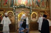 Патриарший наместник Московской епархии освятил храм Рождества Христова в Звенигороде