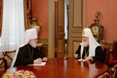 Святейший Патриарх Кирилл провел рабочую встречу с митрополитом Таллинским Евгением