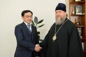 Глава Казахстанского митрополичьего округа и заместитель акима Алма-Аты обсудили вопросы реставрации Вознесенского кафедрального собора
